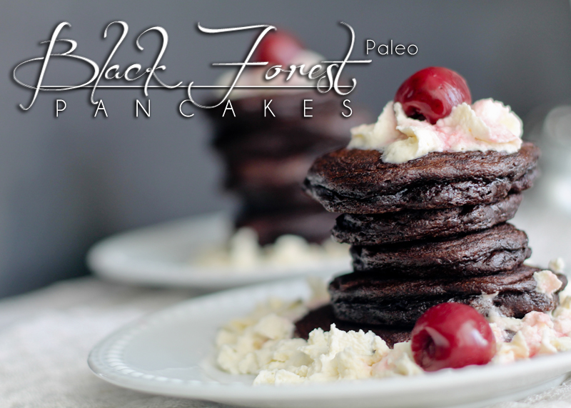 Black forest paleo pancakes