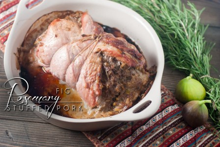 Rosemary Fig Stuffed Pork is savory with a hint of sweet figs, quick and easy for a family dinner or holiday table. http://www.theprimaldesire.com/rosemary-fig-stuffed-pork/