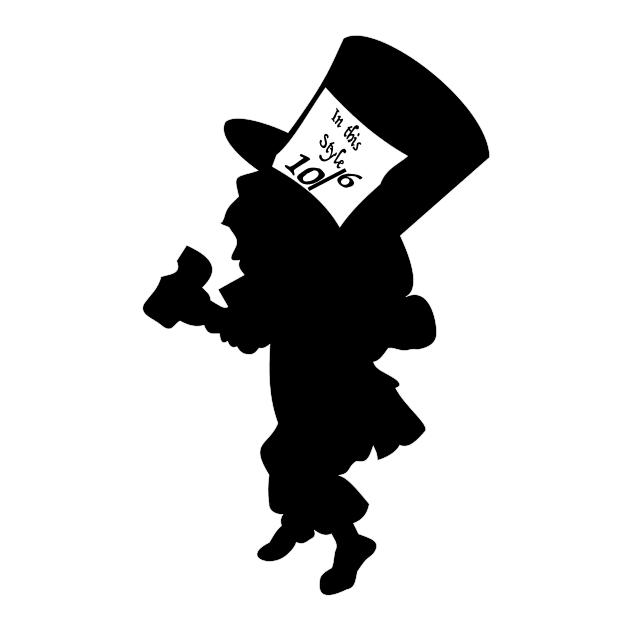 Mad Hatter Alice In Wonderland Wall Stencil