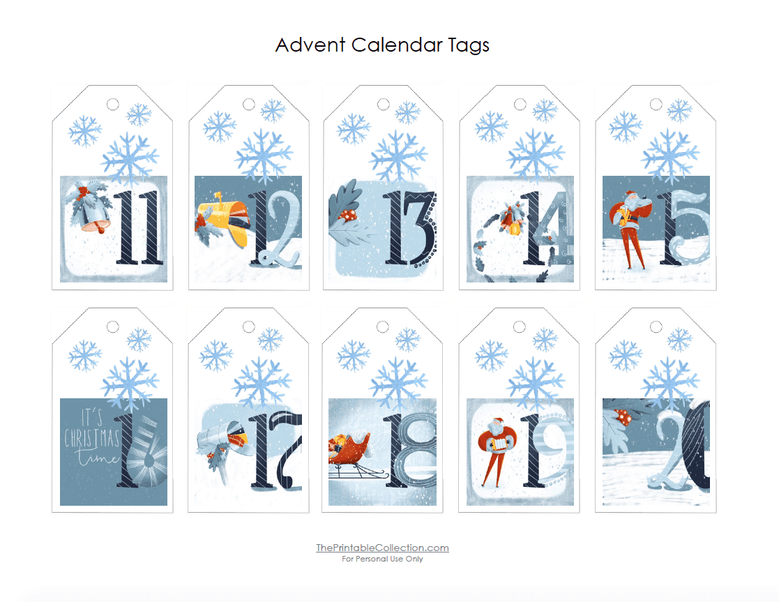 Free Printable Advent Calendar Tags Ready To Download