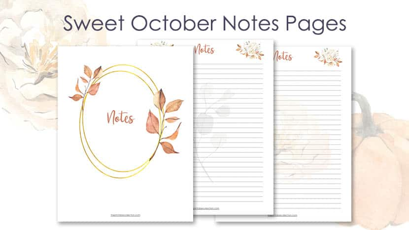 Tons of free printables designed specifically for students. 5 Free Printable Notes Page Template With Fall Images The Printable Collection