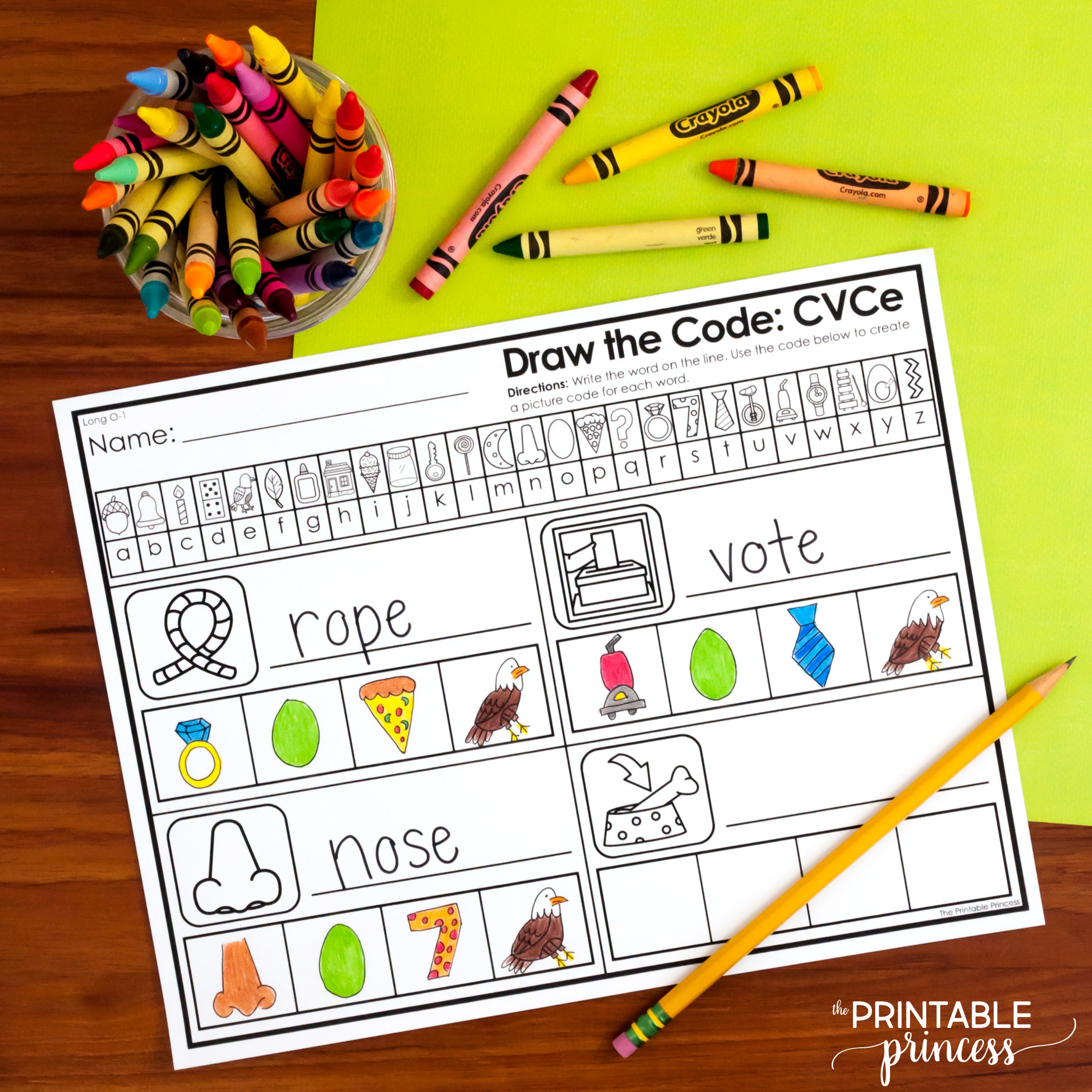 Draw The Secret Code Cvce Worksheets