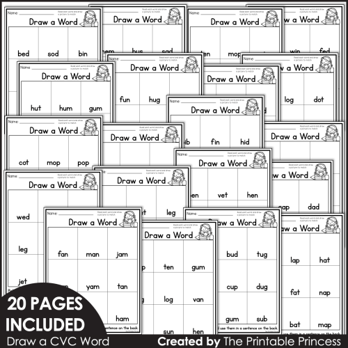small resolution of Draw a Word   CVC Worksheets   The Printable Princess