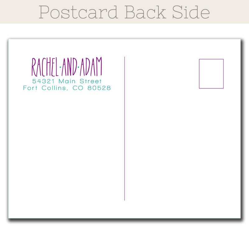 Postcard Save Date Cards