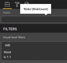 visual filrter on 9grid risk matrix