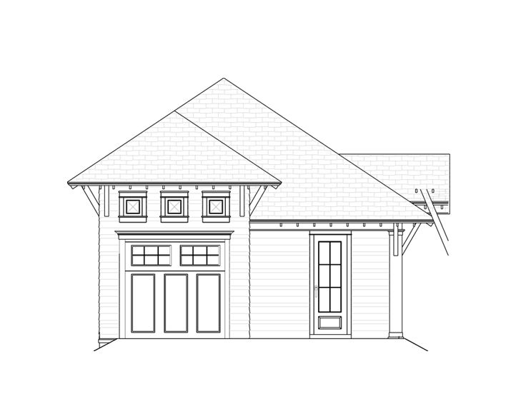 Garage Plans With Carports One Car Garage Plan With Carport