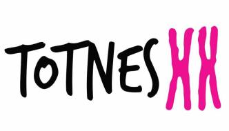 Totnes xx logo - the word 'Totnes' with xx as two x chromosomes
