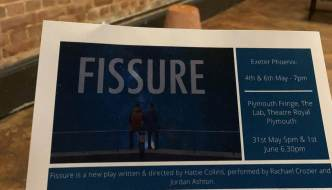 Fissure - the page programme in the Exeter Phoenix Workshop