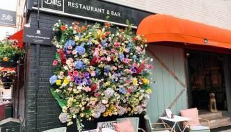 front of Bill's restaurant in Exeter
