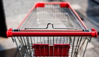 an empty shopping trolley