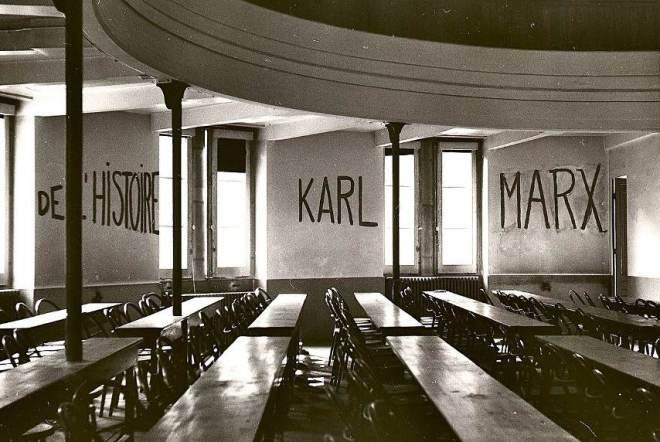 Graffiti in the University of Lyon, May 1968 - Image via wikipediaorg