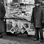 "Here is a closer look at this New York newsstand, showing the January 1903 number of ""The Argosy."""