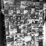 Pulps were on display in April 1934 at this Paris newsstand.