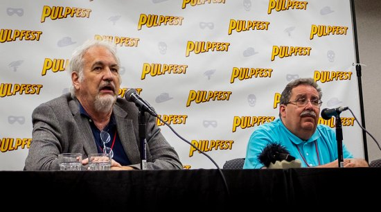 Anthony Tollin, left, and Tony Isabella