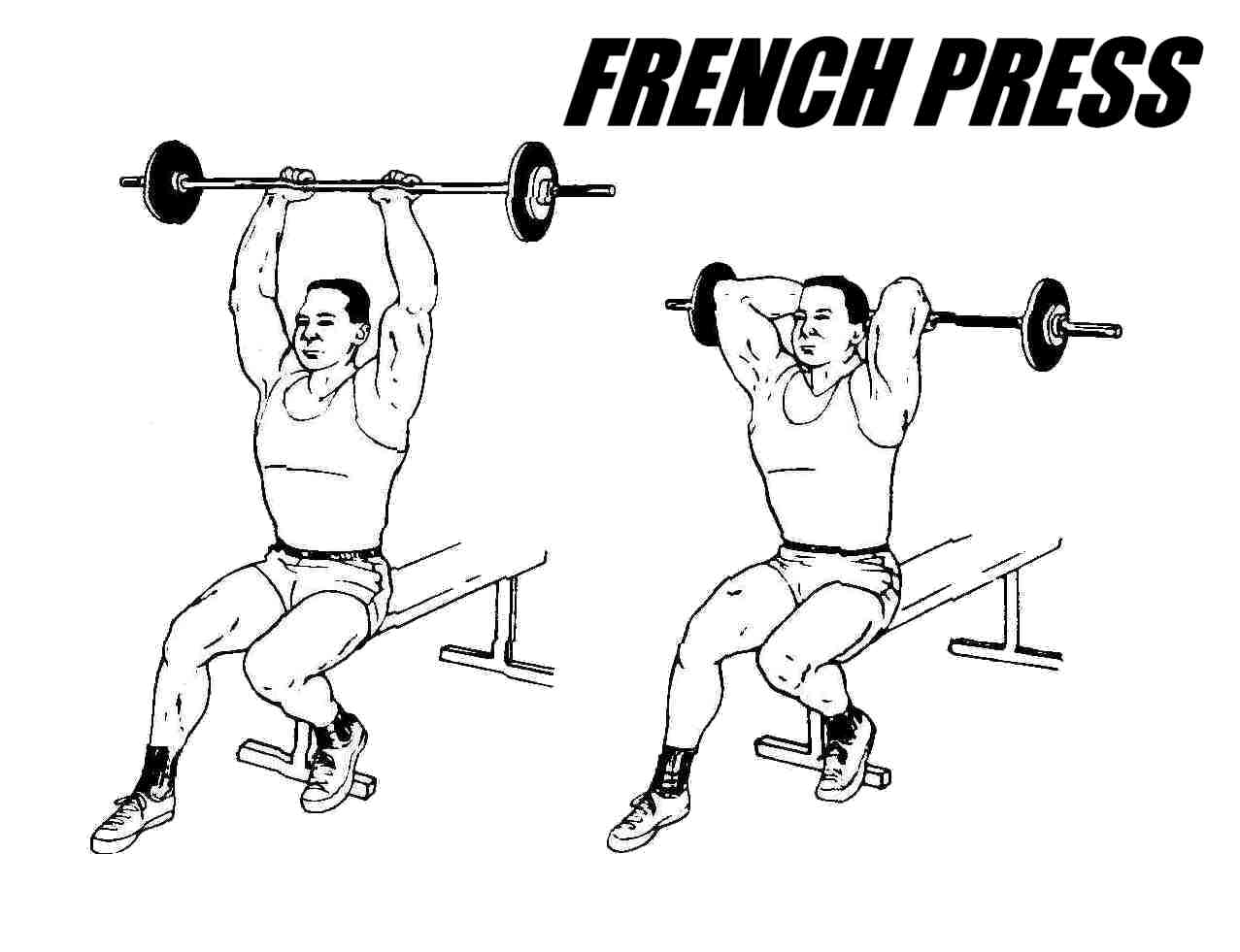 French Press, Barbell French Press Triceps Exercise