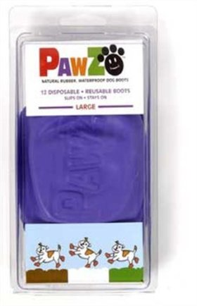 Pawz Natural Rubber Dog Boots – Large