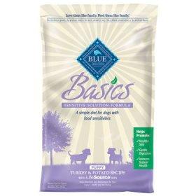 Blue Buffalo Basics Limited Ingredient Formula Turkey and Potato Dry Puppy Food, 24-Pound