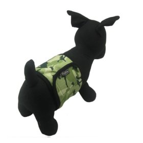 Alfie Couture Designer Pet Accessory – Tad Belly Band – Color: Forest Camouflage, Size: Large (for Boy Dogs)