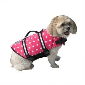 Dog Supplies Designer Doggy Life Jacket Xxsmall Pink Polka Dot Up To 6 Lbs