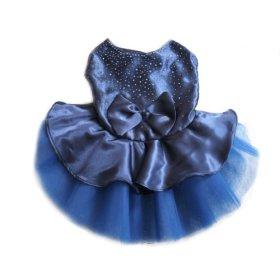 Urparcel Dog Cat Bow Tutu Dress Lace Skirt Pet Puppy Dog Clothes Costume Blue M