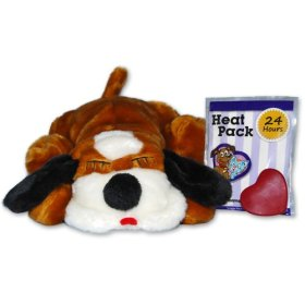 Snuggle Pet Products Snuggle Puppies Behavioral Aid Toy for Pets, Brown and White