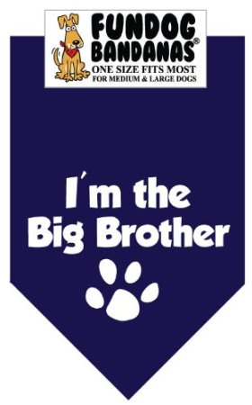 I'm the Big Brother Bandana for Medium to Large Dogs – navy blue
