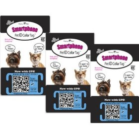 Platinum Pets The Original Smartphone Collar ID Puppy Tag with GPS, Small, Blue