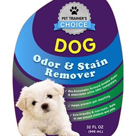 Dog Odor and Stain Remover – Best Dog Urine Odor Remover and Neutralizer – Helps Prevents Re-soiling When Housebreaking – Certified Dog Trainers Most Recommended Dog and Puppy Urine Enzyme Carpet Cleaner And Odor Eliminator – Enzymes Destroy Urine Crystals and Vomit – Best Dog Pee Cleaner and Odor Neutralizer – Gets Urine Off Carpet & Upholstery Safely- Makes Urine Gone Fast – Outperforms Natures Miracle Stain And Odor Remover – Also Works Great on Cat Urine! – SATISFACTION GUARANTEED