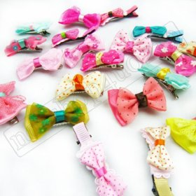 10 Pet Dog Head Flower Hairpin Clip Hair Bow Pet for Small Puppy