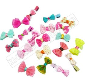 20 Pet Dog Pup's Hair Head Flower Hairpin Clip Hair Bow Pet for Small Puppy