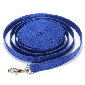 Water & Wood Blue 30FT Long Dog Puppy Pet Puppy Training Obedience Lead Leash