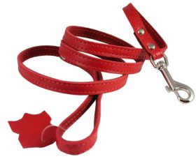 Genuine Leather Classic Dog Leash 1/2″ Wide 4 Ft, Boston Terrier, Poodle, Puppies