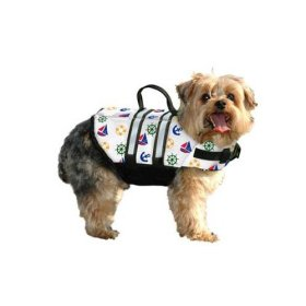 Paws Aboard N1400 Nautical Dog Life Jacket Size: Medium (Dogs 20 – 50 lbs)