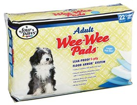 Four Paws Wee-Wee Adult Dog House Breaking Pads, 22 Pack