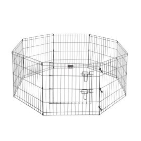Pet Trex Premium Quality 24″ Exercise Playpen for Dogs Eight 24″ x 24″ High Panels with Gate