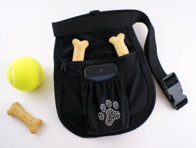 Puppy Paw Print Waist Pouch / Dog treat pouch