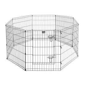 Pet Trex Premium Quality 30″ Exercise Playpen for Dogs Eight 24″ x 30″ High Panels with Gate