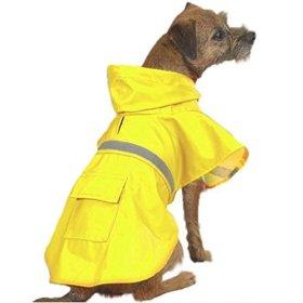 O&C Dog Rain Poncho with Reflective Strip,Yellow, XXS,XS,S,M,L,XL,XXL (M)