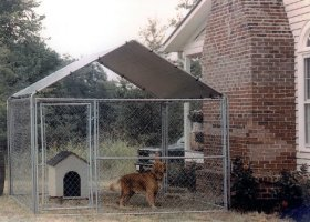 King Canopy Dog House Kennel Cover – 10 by 10 -Feet Silver