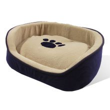 Puppy Dog Cat Kitty Pet Bed Cushion Paws2claws Blue comfy Soft house 16x13x5″ XS