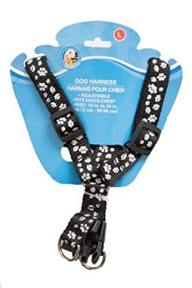 Adjustable Paw Print Dog Harness – For Small to Large Dogs – Buckle Secure – Easy Put On/take Off – Comfortable Design – Pet Training Supplies – Colorful Harnesses – Dog Walking – Dog Collars – Superior Comfort and Quality – Dog Lover Favorite – Satisfaction Guaranteed