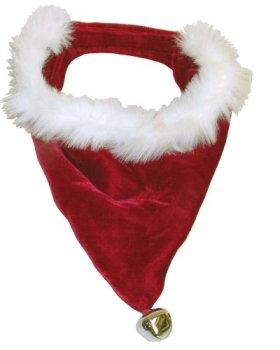Kyjen PP01864 Dog Santa Bandanna Holiday Dog Accessory, Large, Red