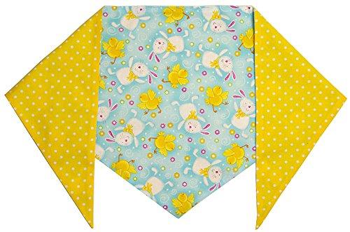 Dog Easter Bunny Bandana (XL) Ties on 22″ – 28″ Neck