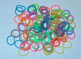 Latex Free Dog Grooming Bands by Fantasy Farm – 5/16″ (7.5 mm), Rainbow, 500 count