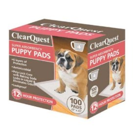 ClearQuest Super Absorbency Puppy Pads 100 Pk Box