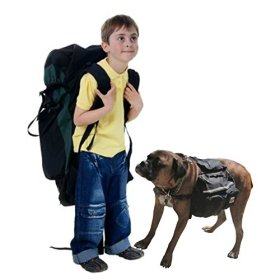Dog Backpack or Dog Saddlebag, One Size, Black With Adjustable Straps. – Bonus E-book With Your Purchase. Dog Backpack is Easy to Get on and Take Off. Perfect For A Long Hike Or Just A Short Stroll In The Park. Great For Medium to Large Dogs.