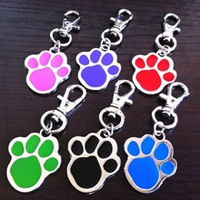 New Cute Stainless Steel Foot Print Engraved Puppy Pet Dog Cat ID Name Tags