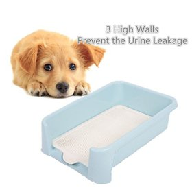 Favorite® Dog Protection Plastic Training Tray/Puppy Training Pad Holder/Indoor Restroom for Pets with High Protection Sides/Dog Litter Box with High Walls