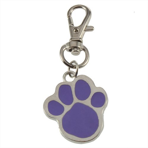 SODIAL(R) Cute Stainless Steel Foot Print Engraved Puppy Pet Dog Cat ID Name Tags