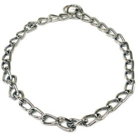 DOG CHOKE CHAIN COLLARS TRAINING LEASH PUPPY PET toy toys gift chains necklace (Heavyweight 3.5mm x 28″)